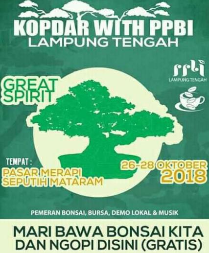 Pameran Bonsai: Ayo Meriahkan Kopdar PPBI Lampung Tengah