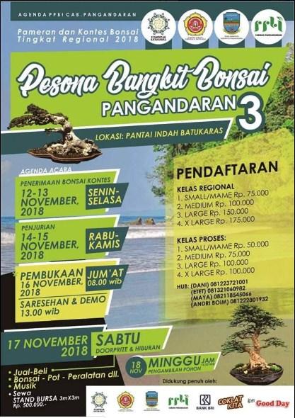 Pameran Bonsai Tingkat Regional 2018 ( Pesona Bangkit Bonsai ) Di Pangandaran