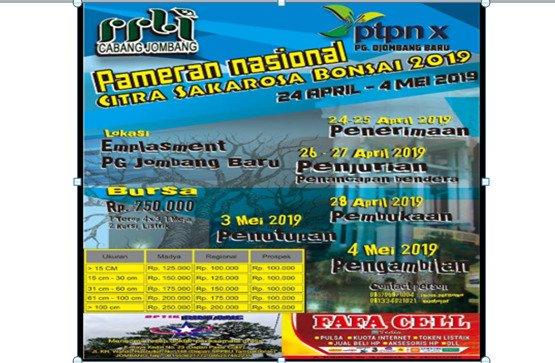 Pameran Bonsai Nasional Jombang Citra Sakarosa Bonsai 2019