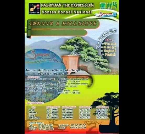 Kontes Bonsai Nasional Pasuruan The Expression Indoor & Exclusive 2019
