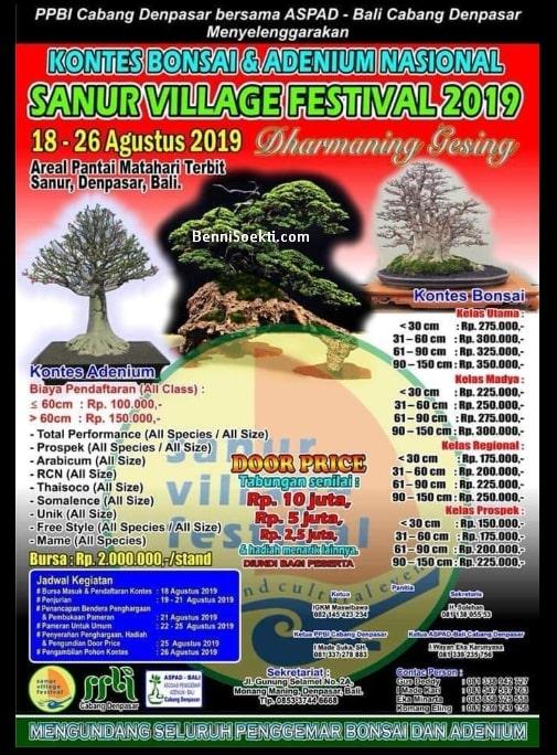 Kontes Bonsai, Bonsai & Adenium Nasional Di Sanur Bali Bulan Agustus
